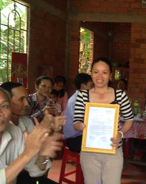 Thuy receives her new house