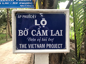 Road built by the Vietnam Project